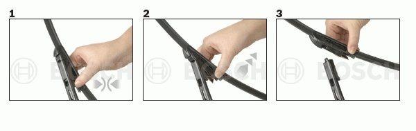 снятие бескаркасной щетки стеклоочистителя с креплением top-lock
